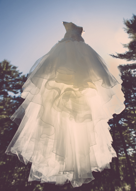 Floating wedding dress/