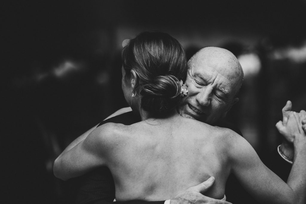 Louisville wedding photographer Adam Brennan photographs the emotion of the bride and her father.